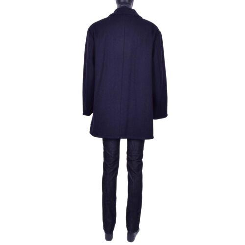 abrigo cruzado virgen de negro Gabbana lana ancho 07014 azul ancho Dolce EYw5qIq