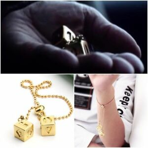 Star Wars HAN SOLO/'s Gold Plated Lucky Dice SABACC PROP Cosplay Bracelet Women