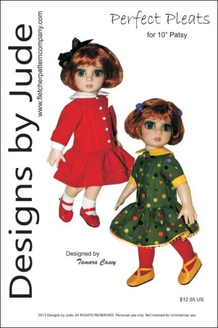"Dress /& Bonnet Doll Clothes Sewing Pattern 10/"" Patsy /& Ann Estelle dolls Tonner"