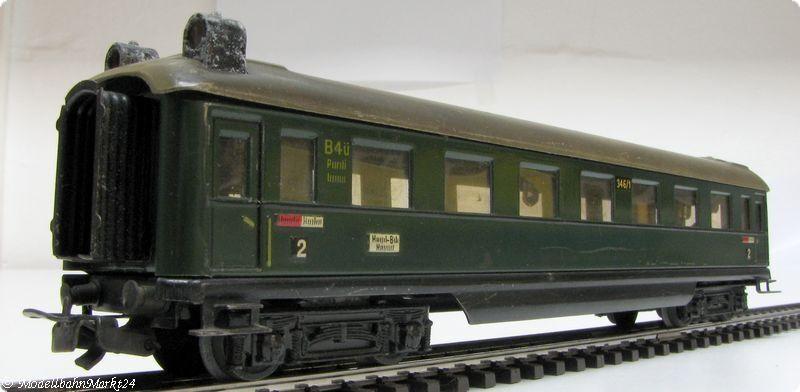 Märklin 346/1 BS lamiera vetture passeggeri illuminato
