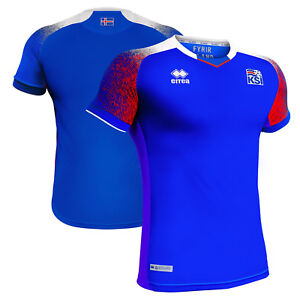 new concept abb30 78304 Errea Iceland WC World Cup 2018 Home Soccer Jersey Brand New ...
