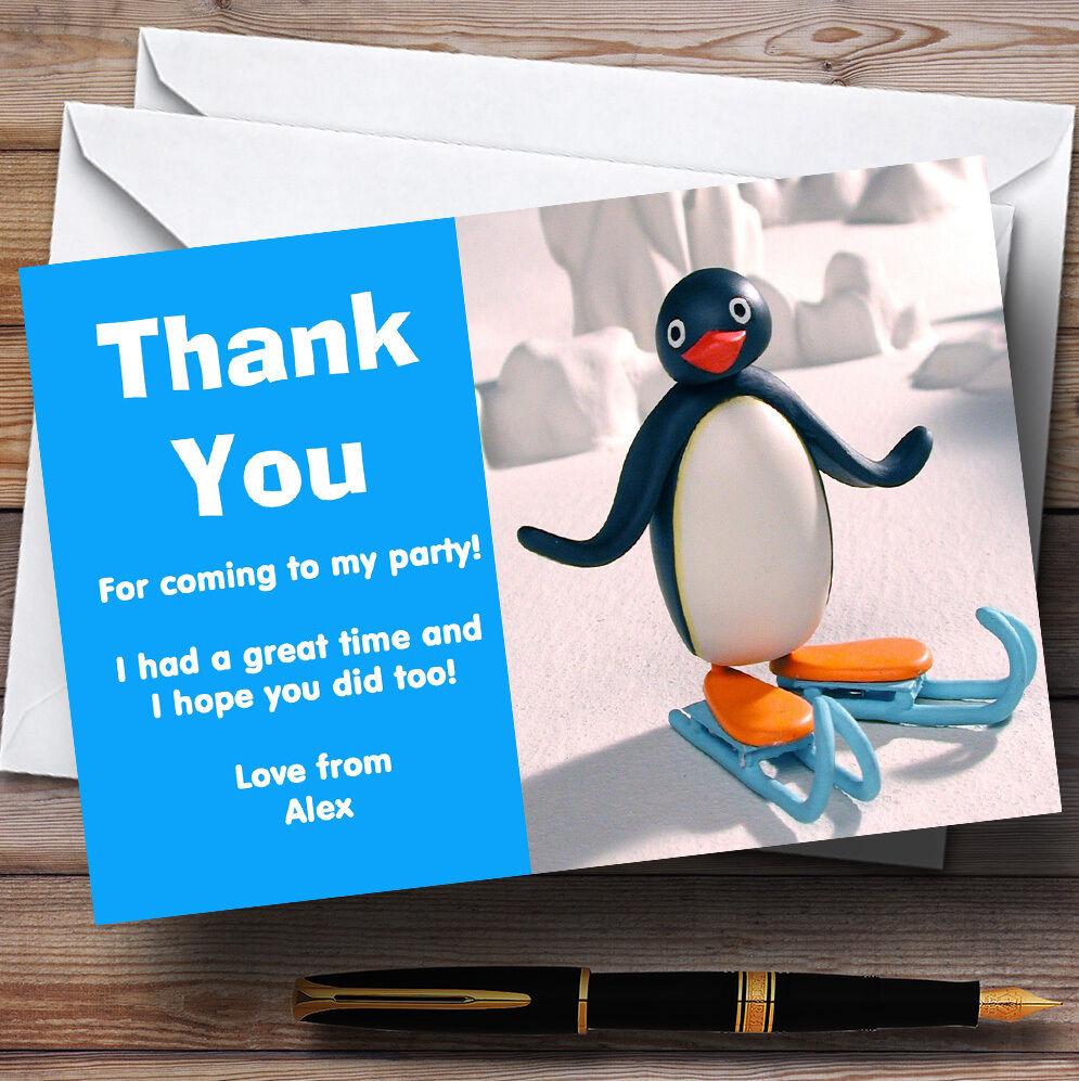 Pingu Personnalisé s  s Personnalisé Fête D'Anniversaire cartes remercieHommes t a4eab0