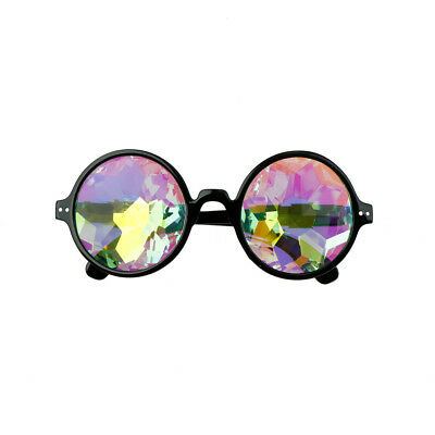 Round Kaleidoscope Sunglasses Women festival Glasses Men Holographic Glasses HU