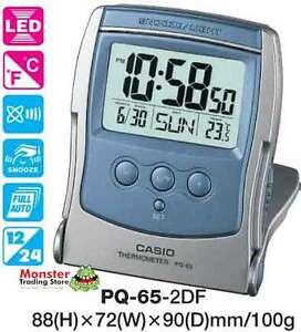 CASIO-TRAVEL-CLOCK-PQ-65-2D-PQ65-TEMPERATURE-12-MONTH-WARRANTY-AUSTRALIAN-SELLER