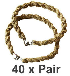 40 Pairs Trouser Twists Bungee Leg Twist Elastic Ties Army Combat Military Boots