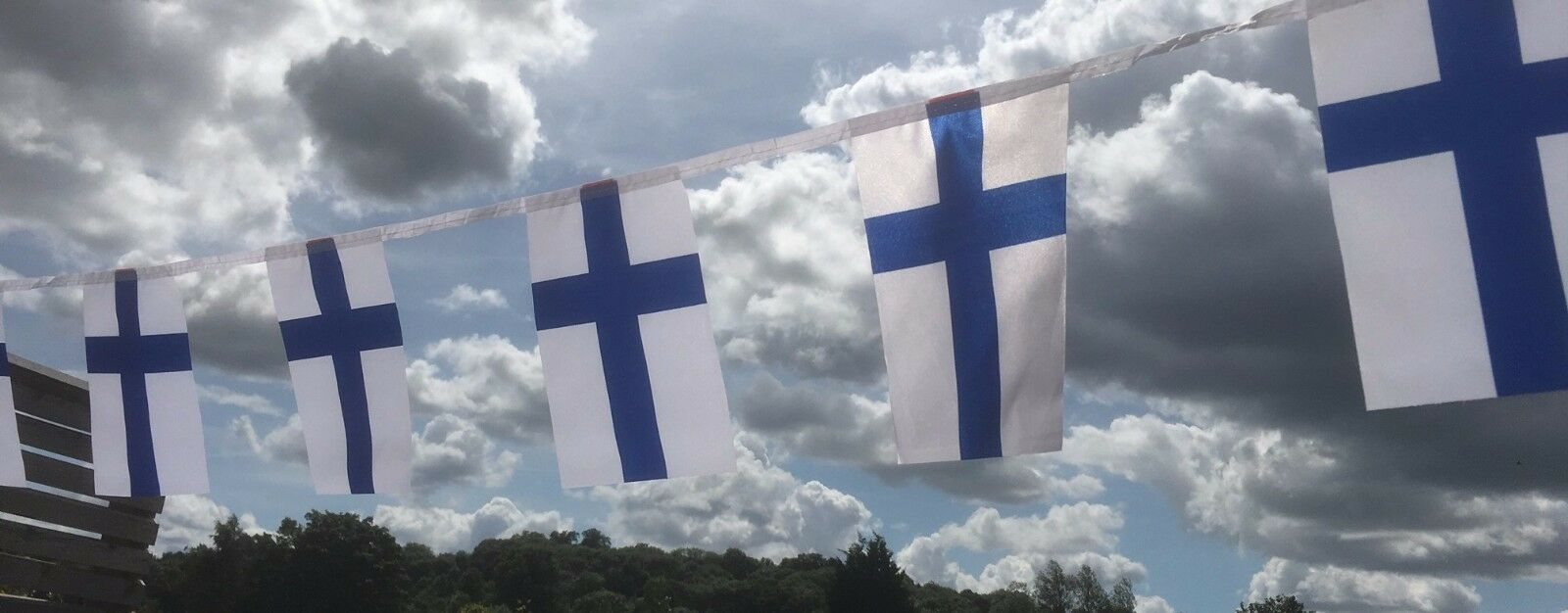 Finland Finnish Fabric Bunting various lengths or sample wholesale free post