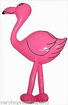 INFLATABLE FLAMINGO  64CM   IDEAL FOR  HAWAIIAN BEACH HOLIDAY PARTY THEME
