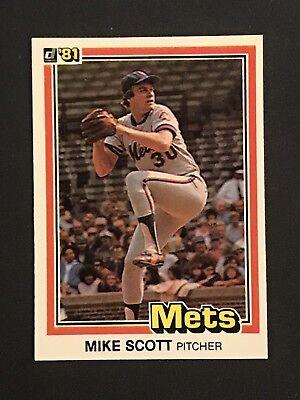 1981 Donruss Mike Scott 37 Baseball Card Ebay