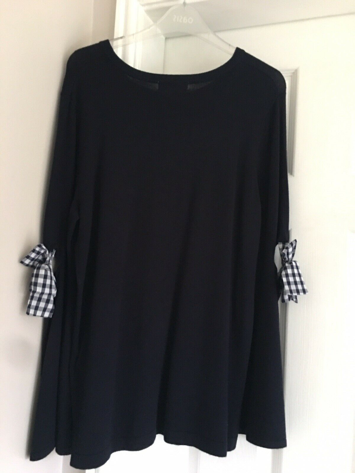 New Size Size Size 12 Navy Long Pretty Jumper With Bow Detail 06a8f9