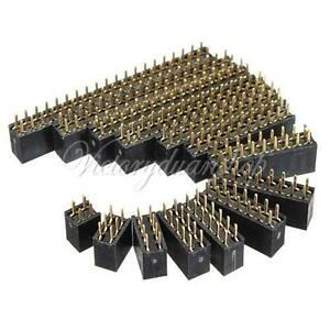 10pcs-2-54mm-Double-Row-Female-Straight-Header-Socket-Pin-Strip-Connector
