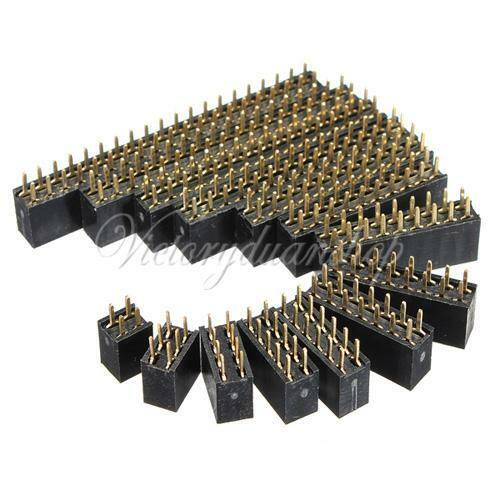 10pcs 2.54mm Double Row Female Straight Header Socket Pin Strip Connector