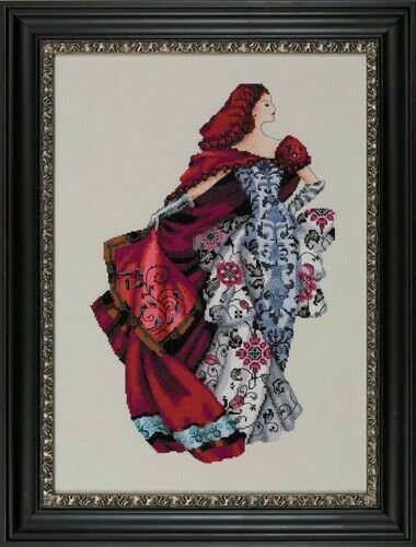 SALE SALE!Complete Xstitch Kit with aida MD128 RED by MIrabilia