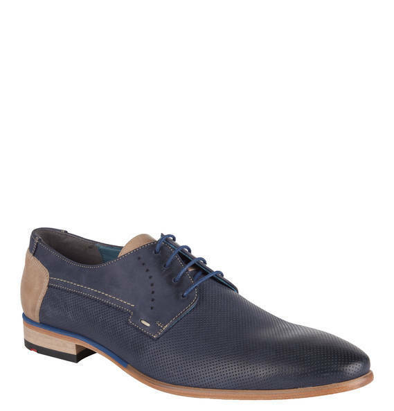 Lloyd Men's Oxford Navy bluee Leather Fashion shoes Made in Germany   Drannon