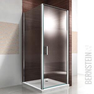 duschkabine dusche rechteck nano esg 195cm glas milchglas streifen duschtasse ebay. Black Bedroom Furniture Sets. Home Design Ideas