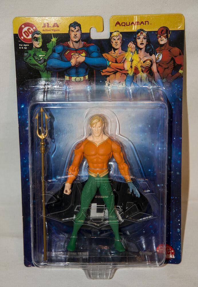 DC COMICS JLA JUSTICE LEAGUE AQUAMAN KING OF THE SEVEN SEAS DC DIRECT FIGURE MIP