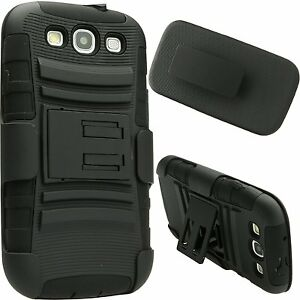 RUBAN-Rugged-Impact-Armor-Hybrid-Hard-Case-Cover-Belt-Clip-For-Samsung-S3-i9300