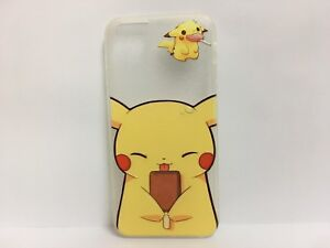 Pokemon Clear Thin Protective Case Cover For Iphone 6 6s Chibi Pikachu Ebay