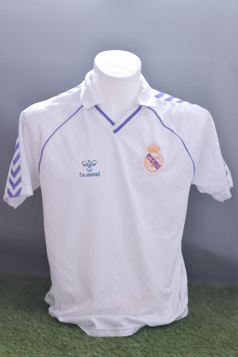 REAL MADRID FOOTBALL SHIRT SOCCER JERSEY 198688 adulto L HOME HUMMEL