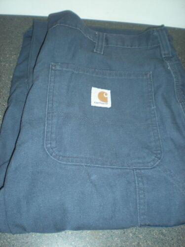 2 Carhartt 383-20 Dungaree Fit Work Pants 36x30 Dark Blue VG Condition #4//27