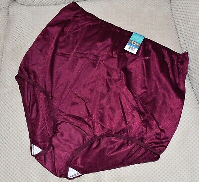 Silky WINE nylon ladies knickers Vanity Fair NIX C US 9 BNWT
