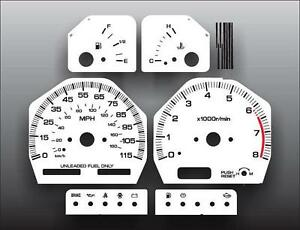 Fits-1989-1994-Nissan-240SX-Dash-Instrument-Cluster-White-Face-Gauges