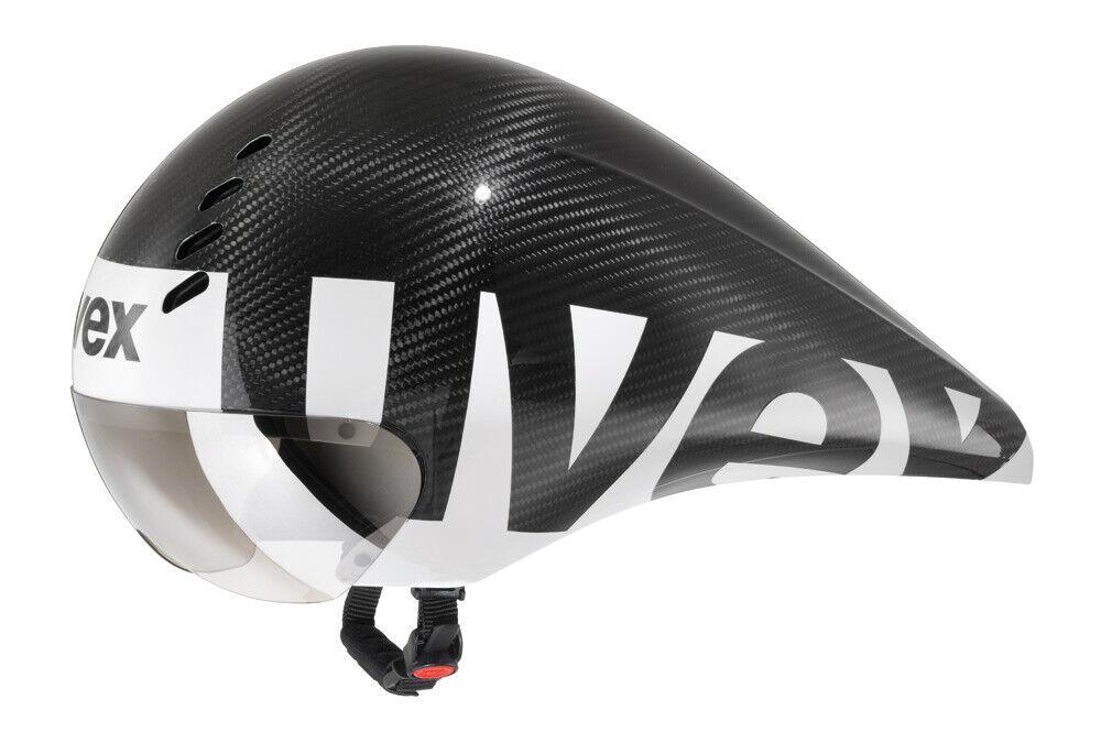 Uvex Race 6 Carbon TT CASCO 5257cm Nero e Bianco
