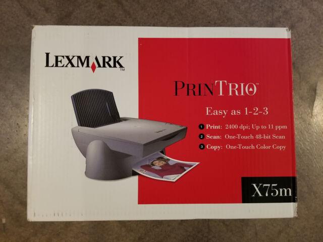 LEXMARK X75 PRINTRIO PRINTER WINDOWS 7 X64 DRIVER DOWNLOAD