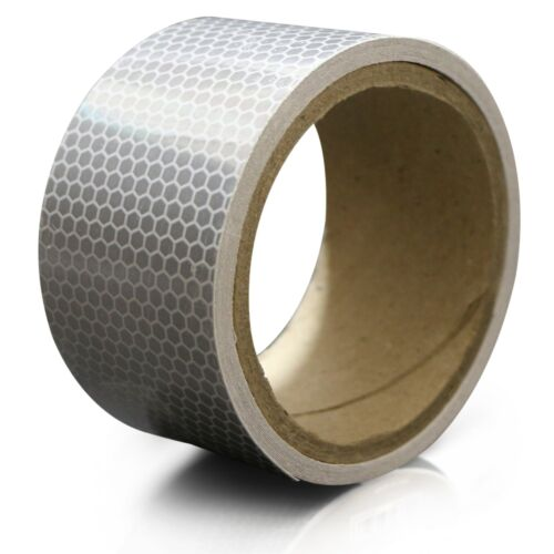 XFasten Reflective Tape White and Silver 2 Inches by 5 Yards