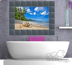 fliesenaufkleber fliesenbild fliesen aufkleber sticker badezimmer bad meer ebay. Black Bedroom Furniture Sets. Home Design Ideas