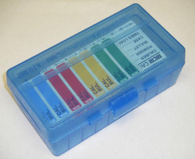 MTM Case Gard™ 50 Round Ammo Box Pistol Flip Top CLEAR BLUE P50-44-24 44 mag