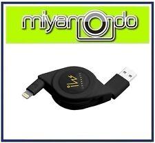 Innowatt Retractable USB Lightning Cable (Black) for iPhone iPad iPod