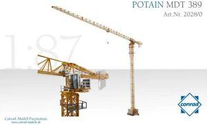 Conrad-2028-0-Potain-MDT389-Tower-Crane-1-87-HO-Scale-Die-cast-MIB