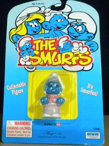 Smurfs-Nanny-Smurf-20408-Grandmother-Granny-Grandma-Figure-Vintage-PVC-Toy-Peyo