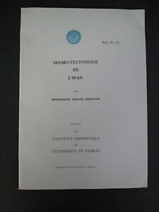 SEISMO-TECTONIQUE-DE-L-039-IRAN-by-Sedrak-Abdalian-1960s-with-Maps-amp-Illustrations