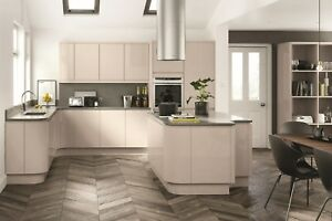 Image Is Loading Lucente Gloss Cashmere Handleless Kitchen Cabinets Units Cupboards