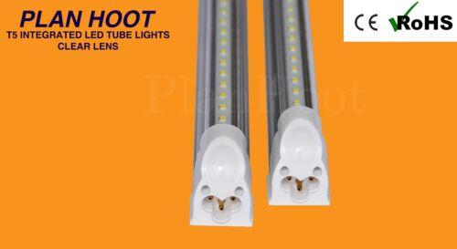 T5 INTEGRATED 5FT 24WT LED FLUORESCENT REPLACEMENT TUBE LIGHT BULB 6500K