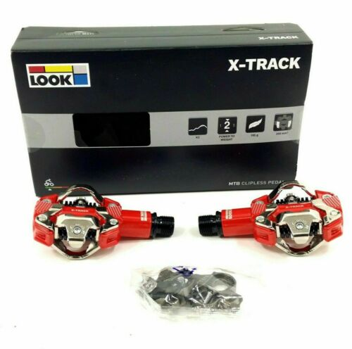 Look X-Track Mountain Bike Pedals and Cleat System Red Shimano SPD Compatible