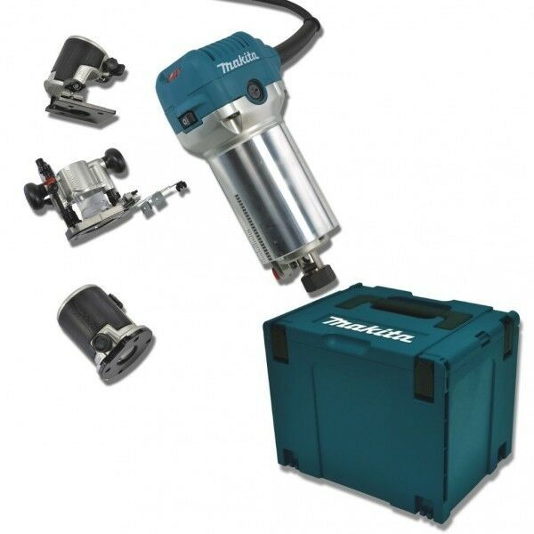 MAKITA Multifräse RT0700CX2J Oberfräse 230 V + Trimmer MAKPAC 4