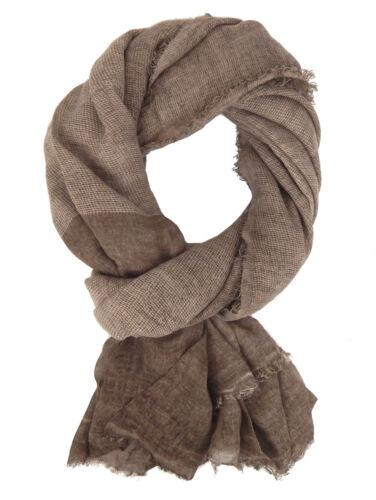 Men/'s Scarf Brown Beige by Ella Jonte Cotton Casual Linen Look Vintage