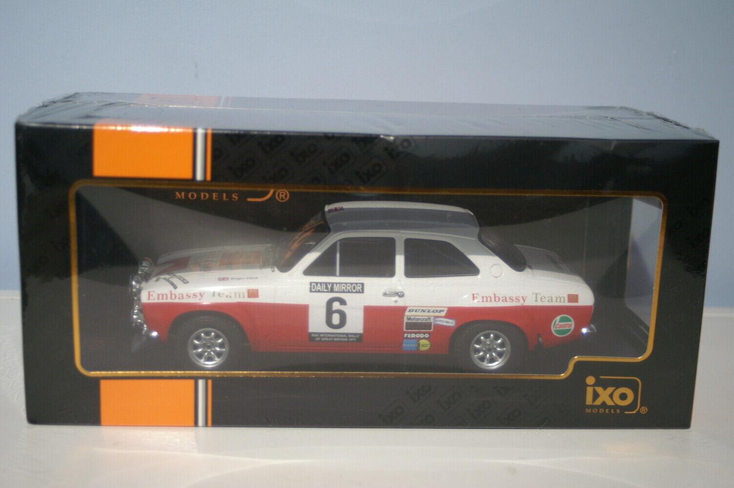 IXO Ford Escort Mk1 RS 1600 Rally Rac 1971 1 18 18RMC024C