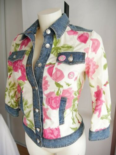42 More 3 4 Maniche It Jacket 38 Clips Jeans F Very Superb Feminine Flowers 8FxdPPqv