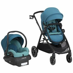 Image Is Loading Maxi Cosi Zelia Travel System Emerald Tide Stroller