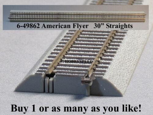 """LIONEL AMERICAN FLYER FASTRACK 30/"""" INCH STRAIGHT TRACK S GAUGE AF 2 rail 6-49862"""