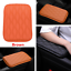 Brown PU Leather Car Armrest Storage Console Box Top Mat Liner Pad Cover Cushion