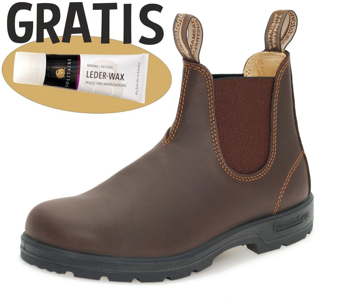 Blaundstone 550 Chelsea Stiefel Stiefel Leder Outdoor Büro - Walnut braun +Lederwax