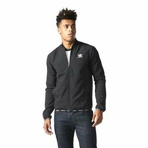 Details about NWT Rare adidas Originals Zip Crew SST TT 2.0 Jacket Nylon Glanz Black Large