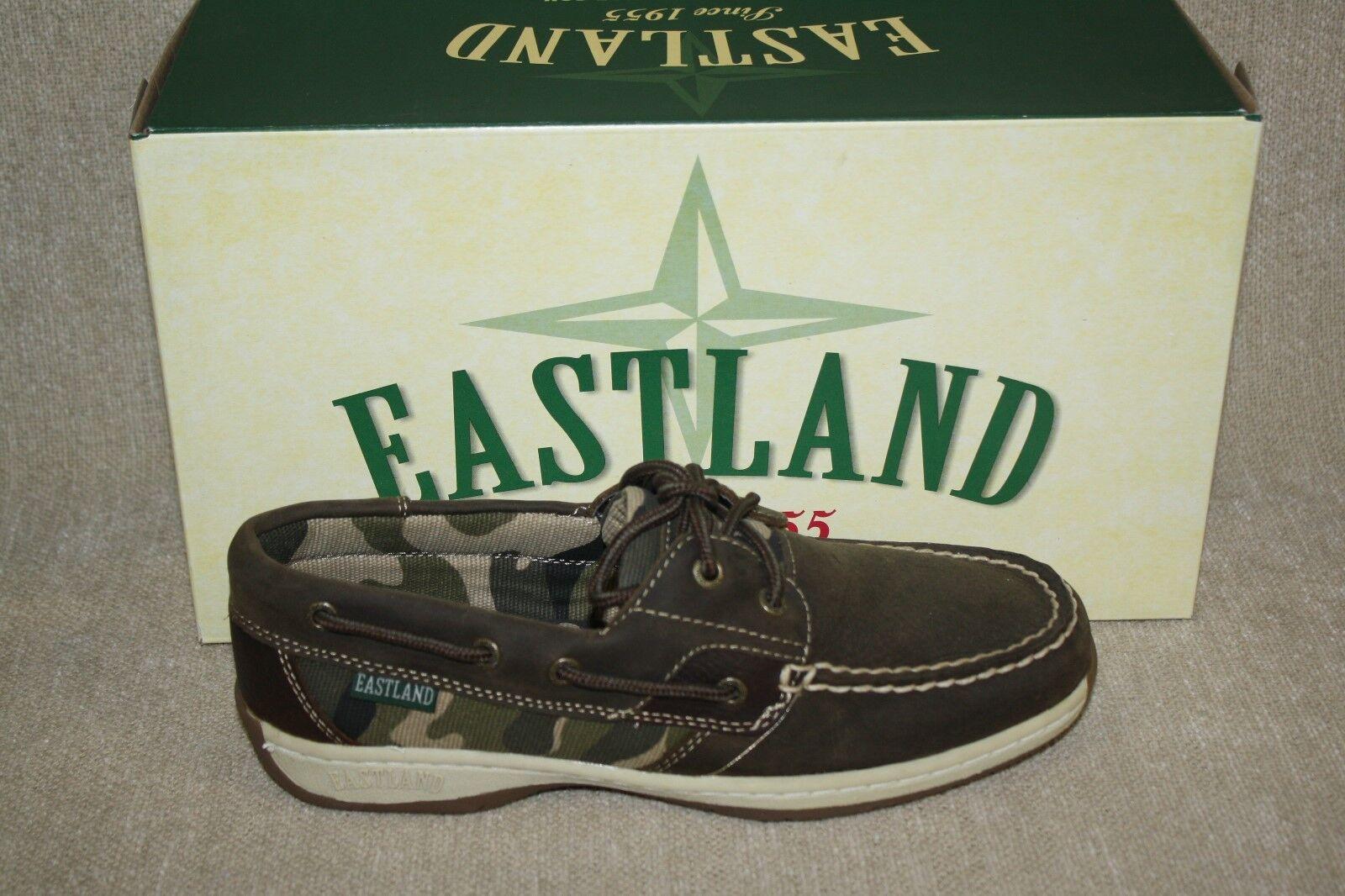 Damenschuhe EASTLAND OLIVE CAMO SOLSTICE BOAT Schuhe-MULTIPLE SIZES (B152)