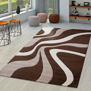 Das Bild Wird Geladen Teppich Braun Beige Creme Wohnzimmer Teppiche Modern  Mit