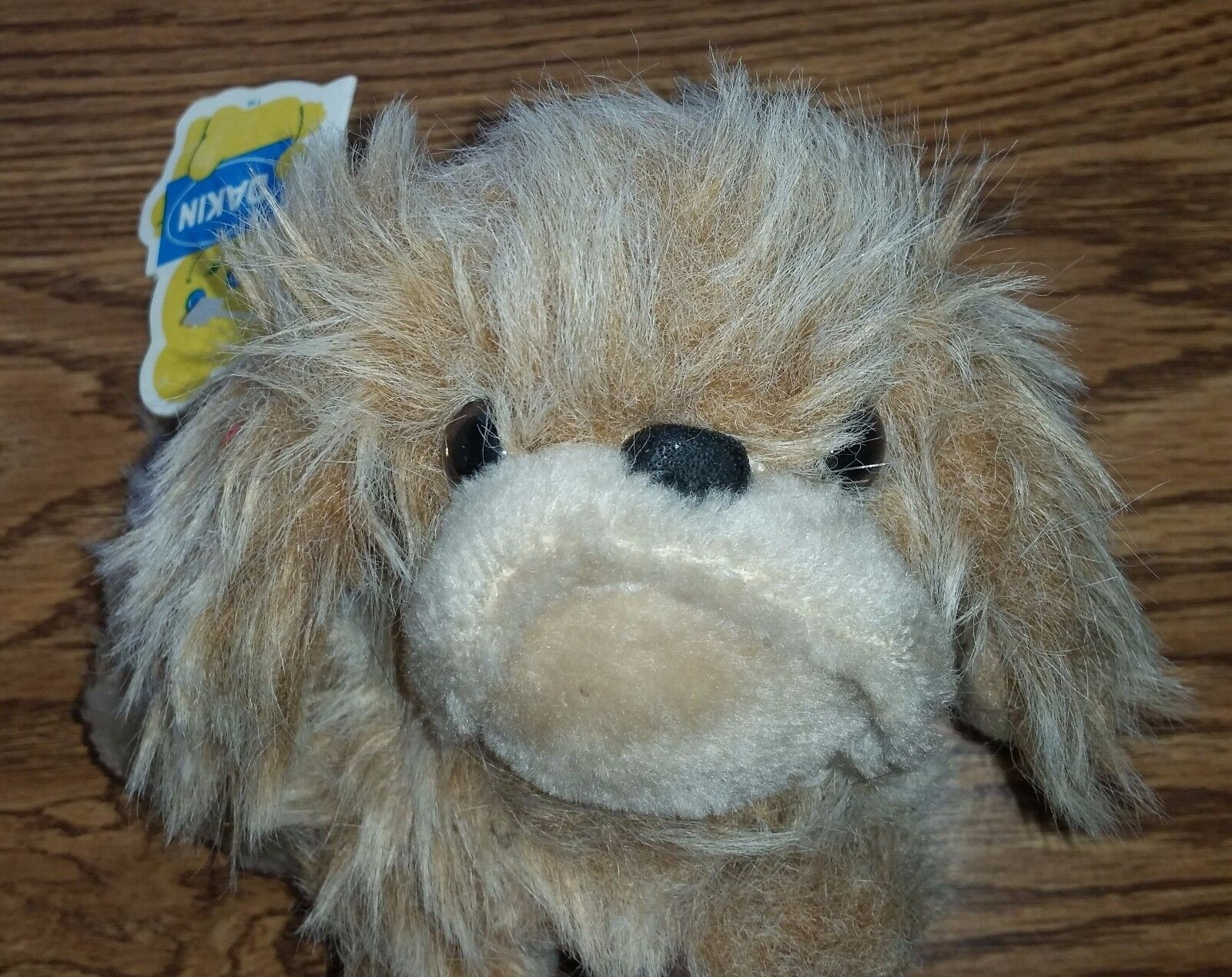 Vintage 1978 Dakin Pekinese Dog Stuffed Animal Plush Beanbag Toy WITH TAGS