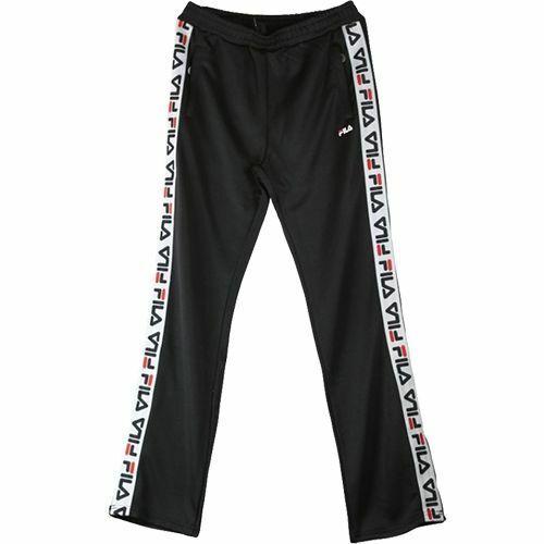 FILA Thora Track Hosen Damen Schwarz Weiß Täglich Freizeitbekleidung Activewear